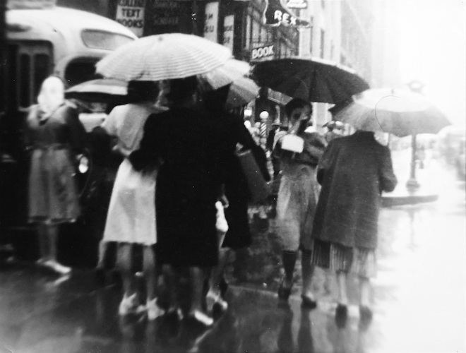Women with Umbrellas in the Rain