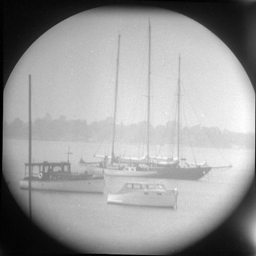 Boats mooring (telescope view) IV