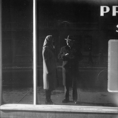 Selfportrait in a Shopwindow with a Woman