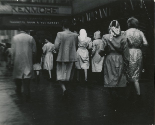 Women in the Rain at Kenmore Restaurant