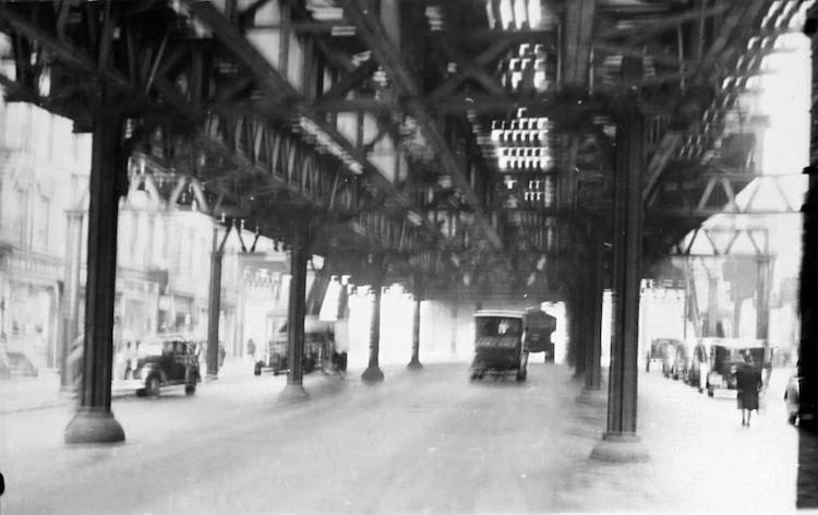 Street Scene in New York (Under the EL)