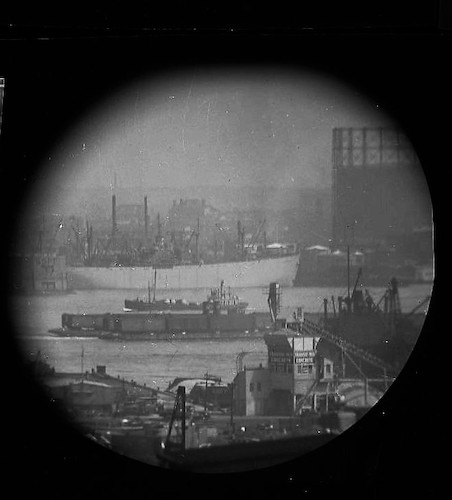 A Window on the East River (telescope view) VIII