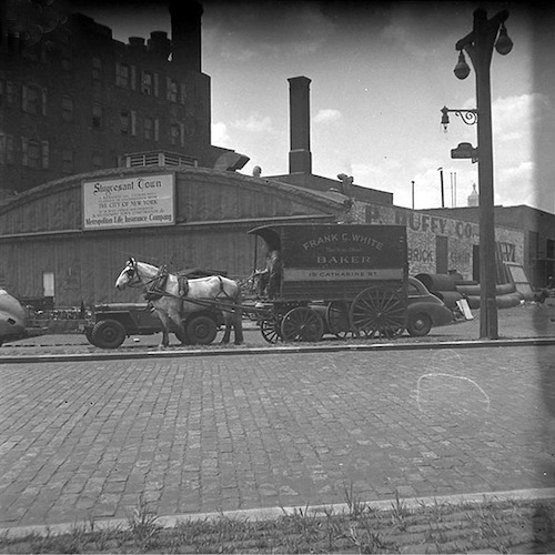 Horse Cart in front of Stuyvesant Town