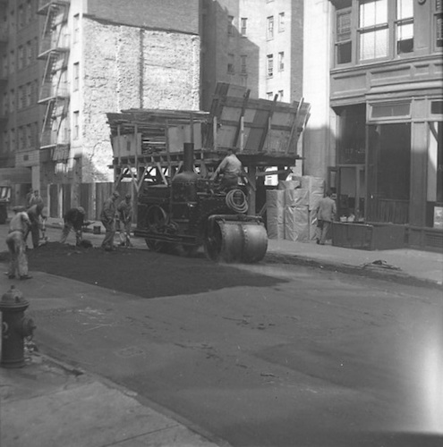 East 24th Street with Steamroller