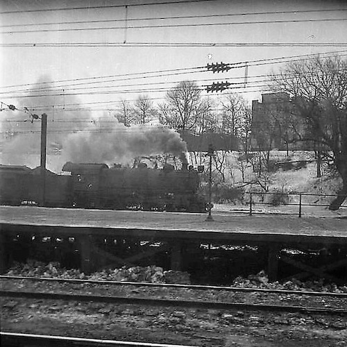 North-Bound from Florida (Locomotive letting off Steam)