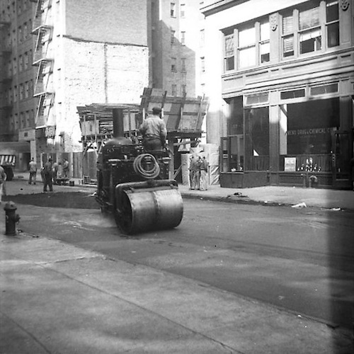 Building in the Streets of New York IV (Steamroller)