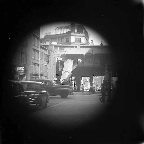 EL Station, Third Ave. & 23rd St. (telescope view)