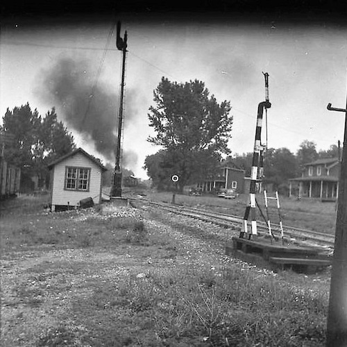 Railroad Crossing - Train Passing III