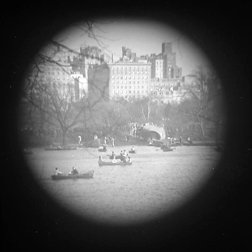 Central Park Lake (telescope view)