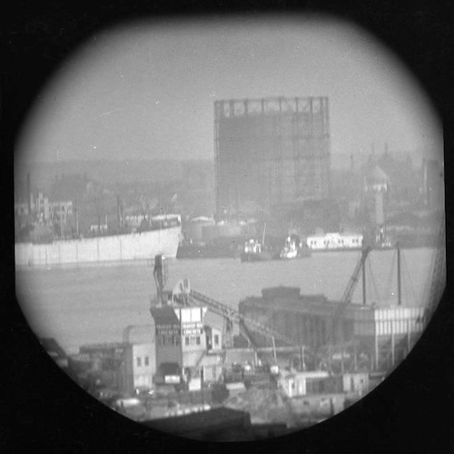 A Window on the East River (telescope view) II
