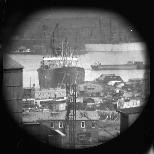 A Window on the East River (telescope view) III