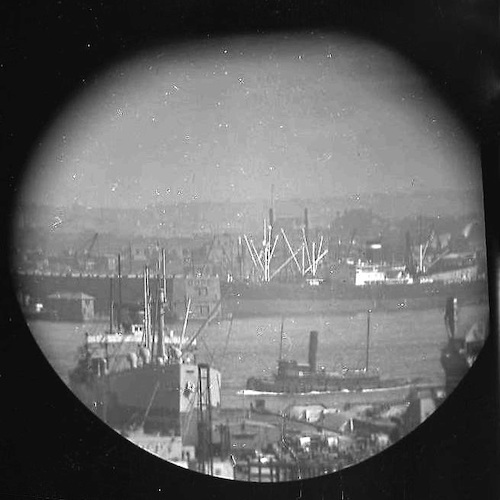 A Window on the East River (telescope view) VI