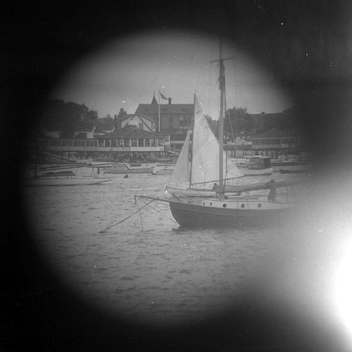Boats mooring (telescope view) VII
