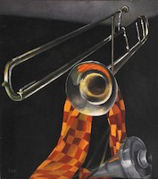 Still Life with Trombone (Trombone of the Bauhaus Band*)