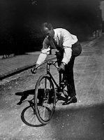 Lyonel Feininger on his bicycle